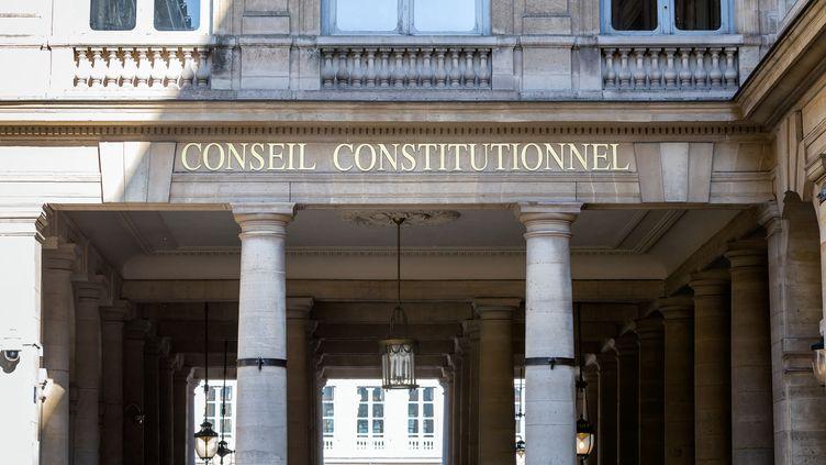Le Conseil constitutionnel, à Paris, le 1er juin 2020. (MARTIN NODA / HANS LUCAS / AFP)