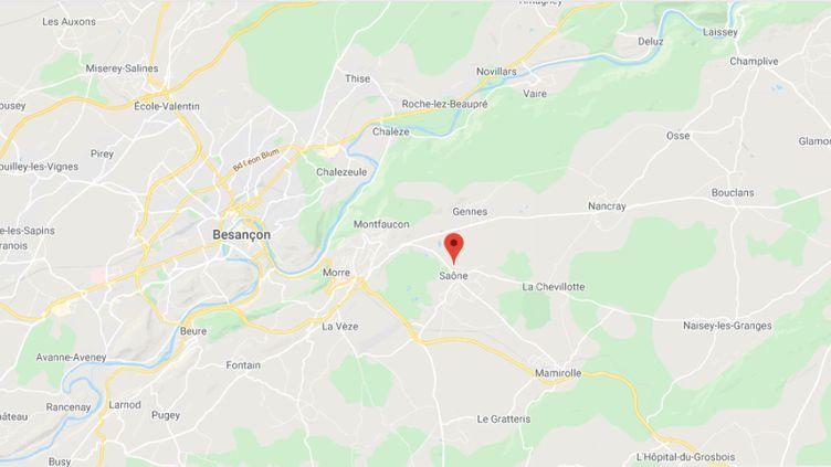 Les faits se sont déroulés à Saône (Doubs). (GOOGLE MAPS)