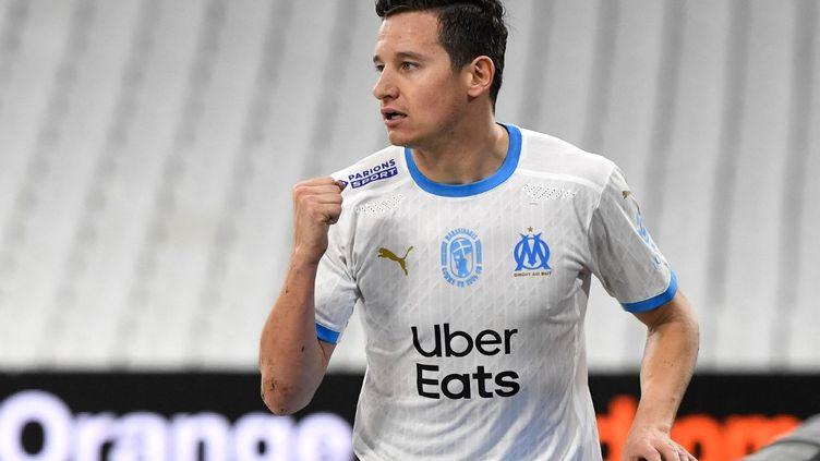 Florian Thauvin lors d'un match entre l'OM et Reims le 19 décembre 2020. (NICOLAS TUCAT / AFP)