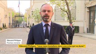 Le Premier ministre Edouard Philippe, le 27 mars 2020 à Paris. (FRANCEINFO)