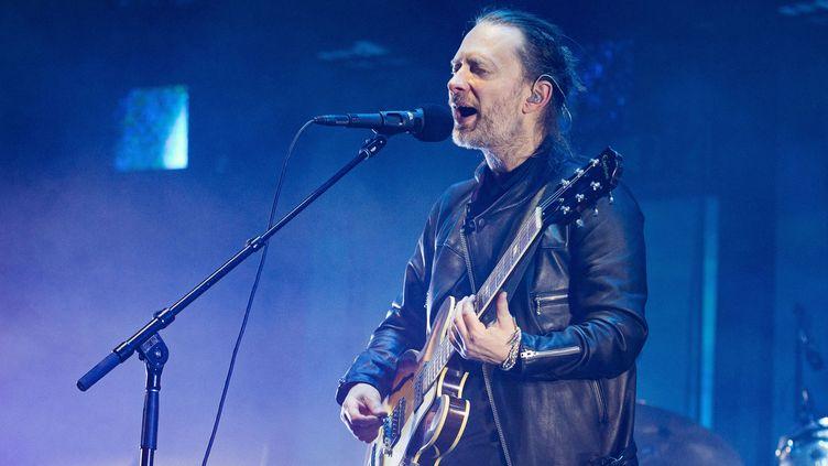 Thom Yorke sur scène avec Radiohead le 23 mai 2016 au Zénith de Paris.  (David Wolff / Getty Images)