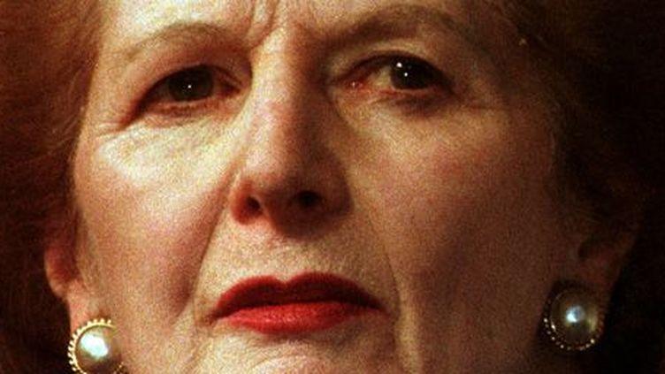 Margaret Thatcher, au congrès du Parti conservateur britannique le 9 octobre 1997. (Reuters)