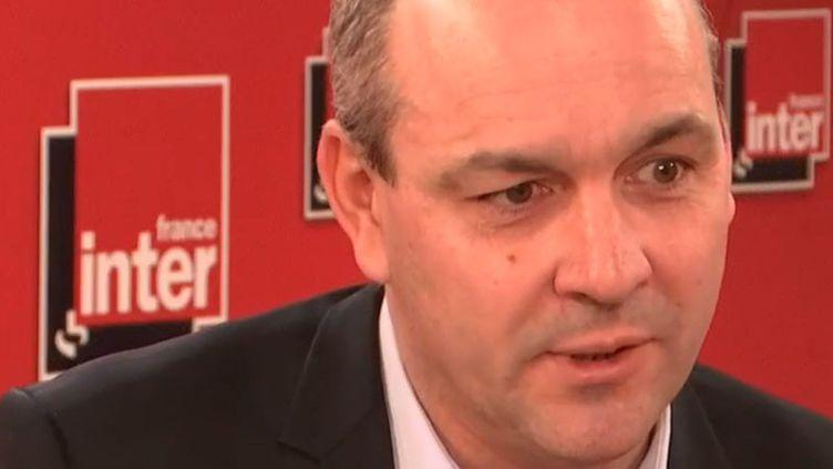 Laurent Berger,le secrétaire général de la CFDT, était l'invité de France Inter mardi 25 février 2020. (FRANCE INTER / RADIO FRANCE)
