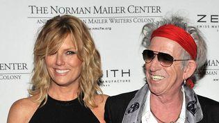 Keith Richards et Patti Hansen, le 8 novembre 2011.  (Henry S. Dziekan III/Getty Images/AFP)
