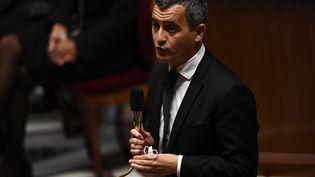 Le ministre de l'Intérieur Gerald Darmanin lors d'une séance de questions au gouvernementà l'Assemblée nationale, le 6 octobre 2020 (photo d'illustration). (CHRISTOPHE ARCHAMBAULT / AFP)
