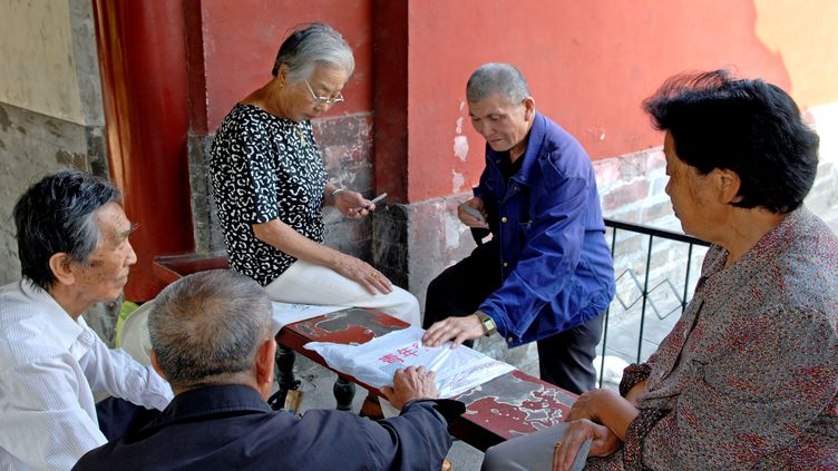 La Chine, confrontée au vieillissement de sa population, est attentive au savoir-faire français sur la gestion des personnes âgées (MAXPPP)
