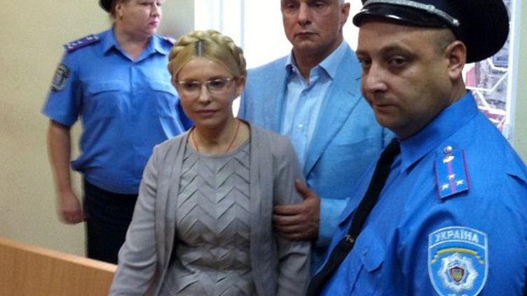 Ioulia Timochenko au tribunal de Kiev en août 2011. (ALEXANDER PROKOPENKO / POOL / AFP)