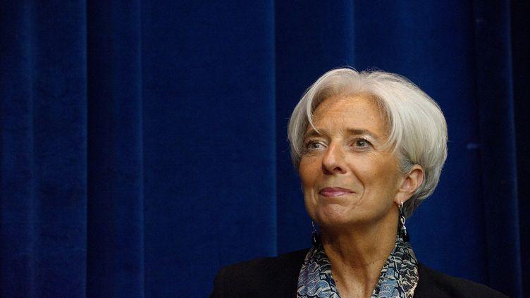La directrice générale du FMI, Christine Lagarde, à Washington, le 20 avril 2012. (NICHOLAS KAMM / AFP)