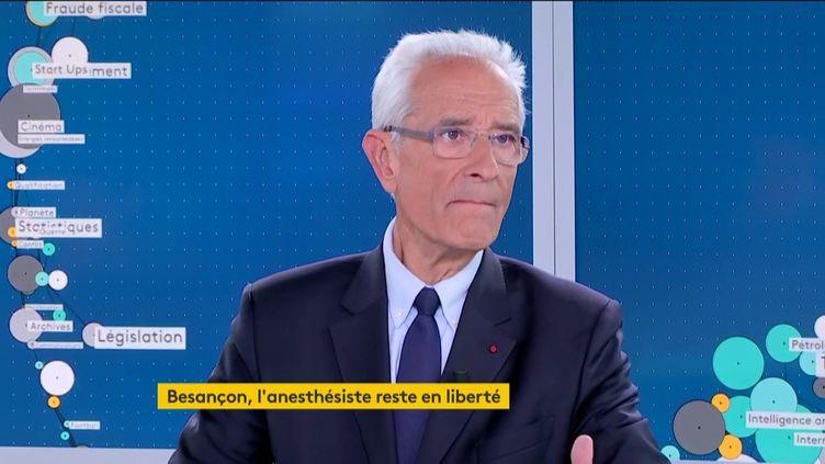 L'un des avocats de l'anesthésiste de Besançon (Doubs), Jean-Yves Le Borgne, le 17 mai 2019. (FRANCEINFO)