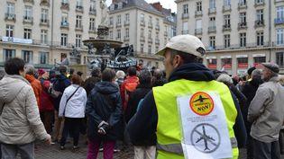 Des opposants au projet d'aéroport de Notre-Dame-des-Landeslors d'une manifestation à Nantes (Loire-Atlantique), le 23 janvier 2016. (FABRICE RESTIER / AFP)