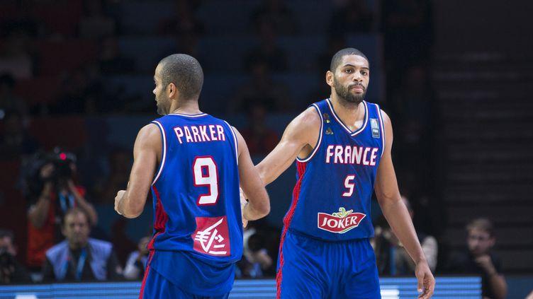 Batum, Parker, deux des leaders de l'Equipe de France (CITIZENSIDE/ANN-DEE LAMOUR / CITIZENSIDE.COM)