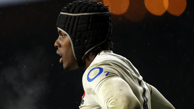 Maro Itoje, symbole d'un XV d'Angleterre qui doute, le 6 février 2021 après une défaite contre l'Ecosse (6-11) (ADRIAN DENNIS / AFP)