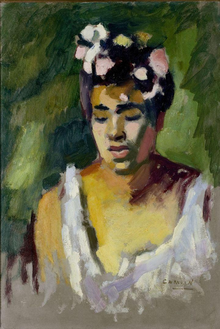 Charles Camoin (1879-1965), Jeune Créole, 1904 (huile sur carton, 39 x 27 cm) - Le Havre, Musée d'art moderne André Malraux  (Florian Kleinefenn - ADAGP, Paris 2016)