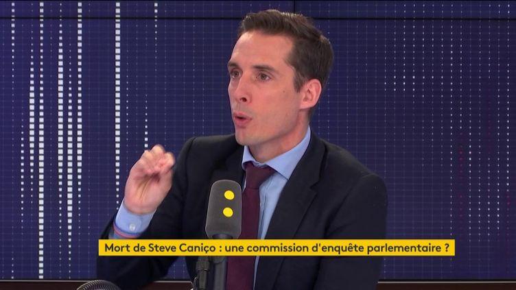 Jean-Baptiste Djebarri, député LREM de Haute-Vienne et porte-parole du groupe à l'Assemblée nationale, jeudi 1er août 2019. (FRANCEINFO)