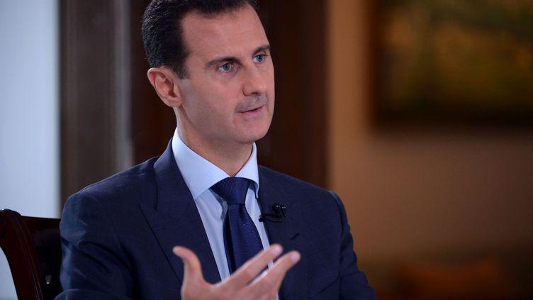 Bachar Al-Assad, le 14 juillet 2016, à Damas. (SANA / AFP)