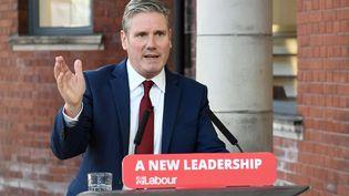 Keir Starmer lors d'un discours,le 22 septembre 2020, àDoncaster, au Royaume-Uni. (STEFAN ROUSSEAU / AFP)