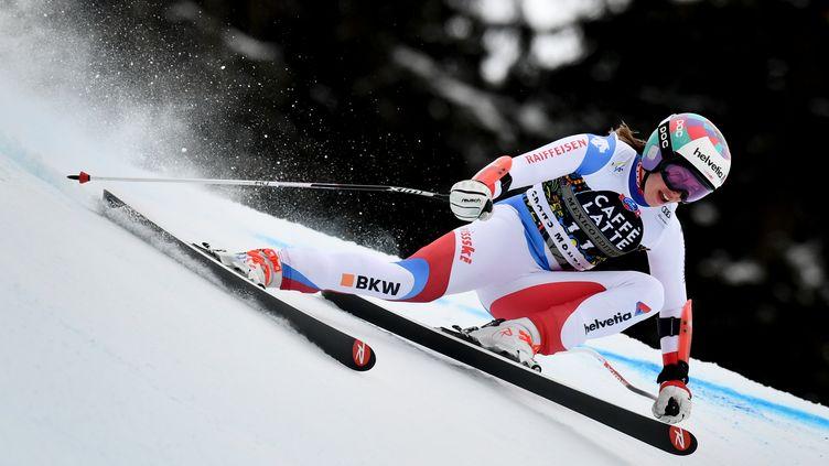 Tina Weirather. (FABRICE COFFRINI / AFP)