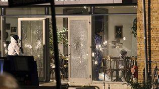 La façade du centre culturel attaqué à Copenhague (Danemark), samedi 14 février 2015. (MATHIAS OEGENDAL / SCANPIX DENMARK)
