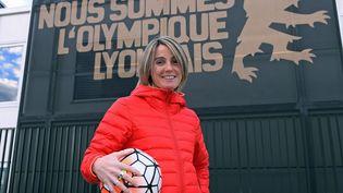 Sonia Bompastor, ici en 2016 au centre de formation de l'Olympique Lyonnais, a été nommée entraîneur de l'équipe féminine des Gones, le 27 avril 2021 (MAXPPP)