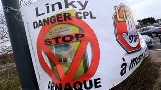 Manifestation anti-Linky à Yutz, en Moselle, le 26 mars 2018 (MAXPPP)
