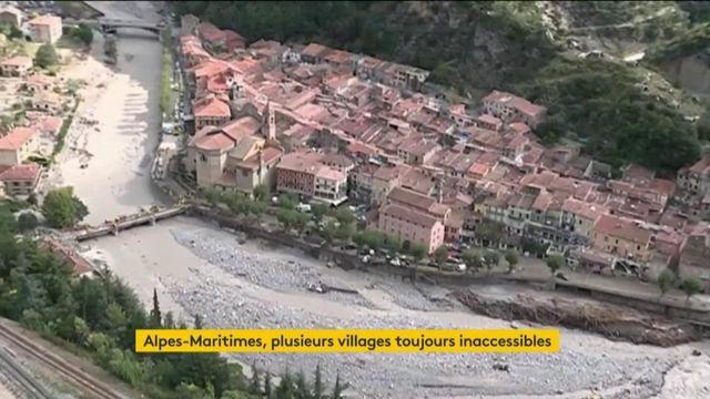 Alpes-Maritimes : des villages sont toujours inaccessibles