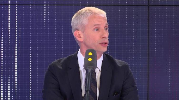 """Franck Riester, ministre de la Culture, invité du """"8h30 Fauvelle-Dély"""", vendredi 12 avril 2019. (FRANCEINFO / RADIOFRANCE)"""