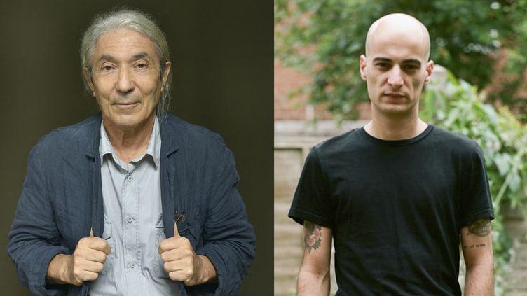 Boualem Sansal ( à gauche) et Alessio Forgione ( à droite), lauréats du prix Méditerranée 2021. (LEEMAGE VIA AFP / EDITION DENOËL)