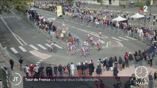 Les cyclistes du Tour de France à Brest. (France 2)