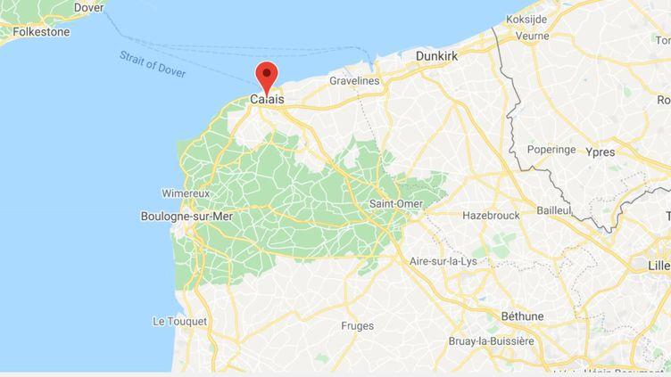 53 migrants ont été secourusau largedu Pas-de-Calais, mercredi 21 avril. (CAPTURE D'ECRAN GOOGLE MAPS)
