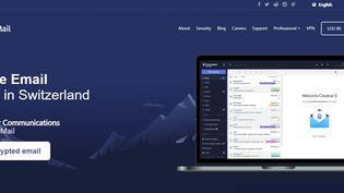 Capture d'écran du site internet de Protonmail, le service de messagerie chiffrée. (PROTONMAIL.COM)