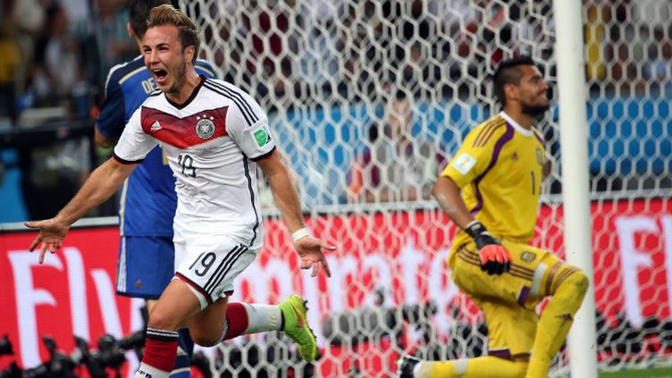 Mario Götze restera à tout jamais l'unique buteur en finale contre l'Argentine (1-0, a.p.). (JORGE ARCIGA / NOTIMEX)