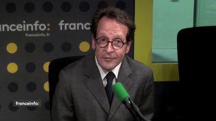 Gilles Le Gendre, député La République en marche de Paris, dans le studio de franceinfo lundi 28 mai 2018. (FRANCEINFO)