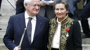 Antoine et Simone Veil à l'Académie française à Paris, le 18 mars 2010. (FRANCOIS GUILLOT / AFP)