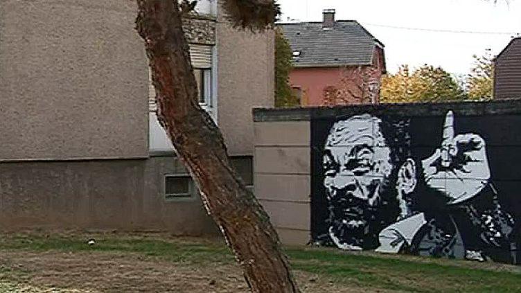 L'humoriste controversé Dieudonné orne un mur de la ville de Sélestat.  (France 3 culturebox)