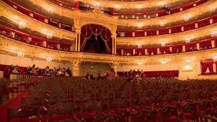 En Russie la danse classique est une religion. La scène du Bolchoï est le plus grand théâtre d'Europe. C'est un endroit exceptionnel qui a connu les Tsars et traversé les révolutions.  (CAPTURE D'ÉCRAN FRANCE 3)