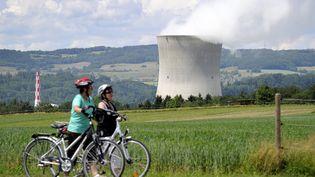 Près de la centrale nucléaire deLeibstadt (Suisse), le 22 mai 2011. (FABRICE COFFRINI / AFP)