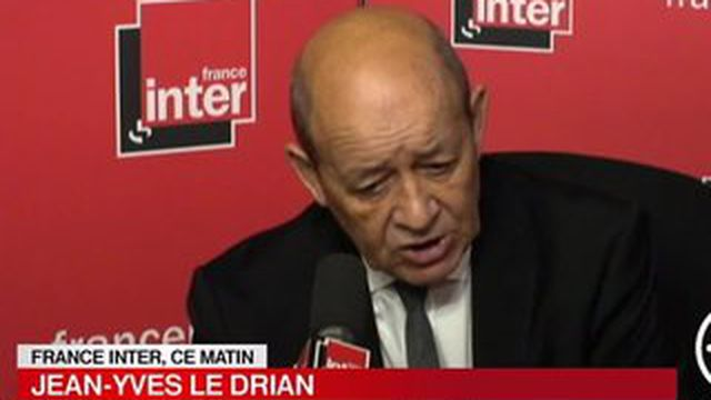 """Jean-Yves Le Drian : """"Daech menace la Syrie et le Liban"""""""