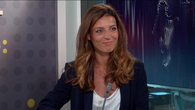 Coralie Dubost, députée de l'Hérault, candidate à la présidence du groupe LREM à l'Assemblée nationale, le7 septembre 2020 sur franceinfo. (FRANCEINFO / RADIOFRANCE)