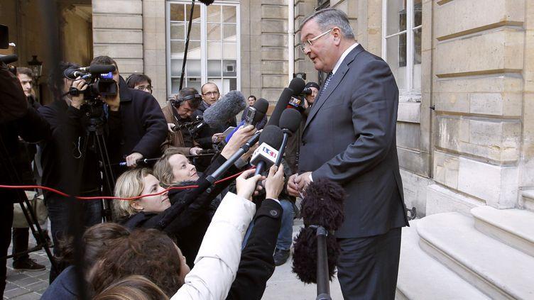 Le garde des Sceaux, Michel Mercier, le 21 novembre 2011 à Paris. (FRANCOIS GUILLOT / AFP)
