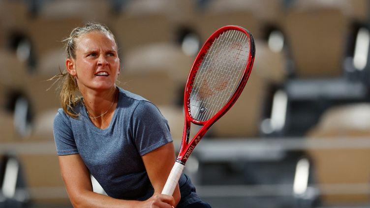 La joueuse française Fiona Ferro lors du tournoi de Roland-Garros à Paris, lundi 5 octobre 2020. (THOMAS SAMSON / AFP)