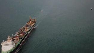 Il est l'un des plus gros chalutiers au monde et il est devenu l'objet de toutes les inquiétudes des pêcheurs français. Alors que les chalutiers de Boulogne-sur-Mer (Pas-de-Calais) ne sont autorisés qu'à 60 tonnes de pêche par an, le Margiris est en capacité de pêcher 250 tonnes par jour. Alors que dit la législation ? (CAPTURE ECRAN FRANCE 2)