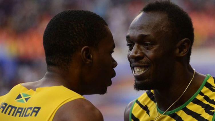 Usain Bolt et son partenaire d'entraînement Warren Weir