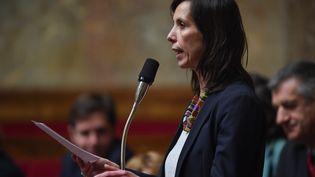 Albane Gaillot, députée EDS, le 6 février 2019 à l'Assemblée nationale. (CHRISTOPHE ARCHAMBAULT / AFP)