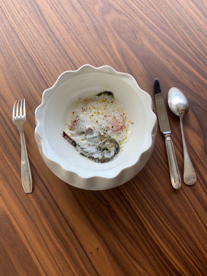 Salade improvisée façon beau-père, signée Amélie Darvas. (RF / BERNARD THOMASSON)