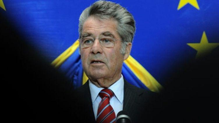 Le président Heinz Fischer le 16 octobre 2009 lors d'un discours à Vienne (AFP / Samuel Kubani)