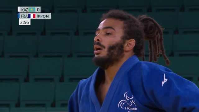 Helios Latchoumanaya a remporté son combat face à Zhanbota Amanzhol lors de la petite finale pour la médaille de bronze. En l'espace de quelques secondes, le Français a dominé son adversaire et s'est imposé par ippon.