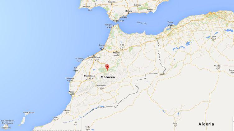 Capture de Google Maps pointant la ville deBeni Mellal (Maroc), où un couple d'hommes a été violemment agressé, début mars. (GOOGLE MAPS)