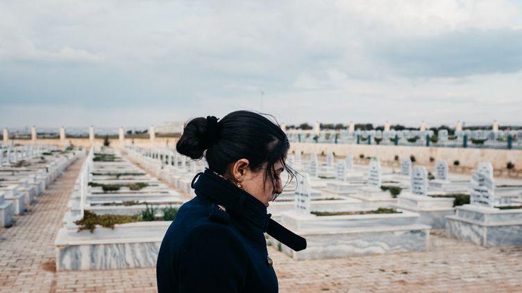 Leïla Mustapha, maire de Raqqa (2021). (JEAN-MATTHIEU GAUTIER)