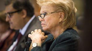 L'eurodéputée Eva Joly durant une séance au Parlement européen à Bruxelles (Belgique), le 13 octobre 2015. (WIKTOR DABKOWSKI / AFP)