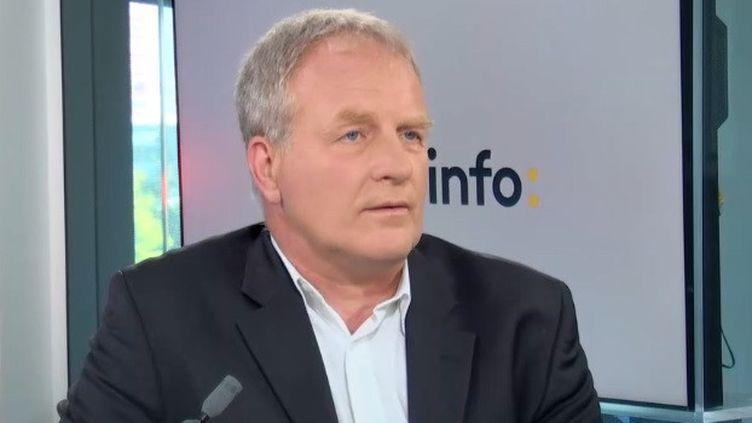 Le président de la CFE-CGC François Hommeril, invité de franceinfo le 21 septembre 2020 (FRANCEINFO / RADIO FRANCE)